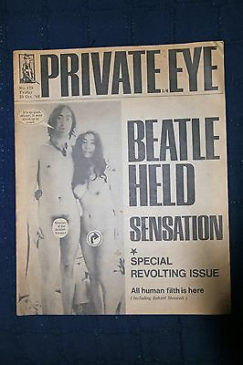 Private Eye Magazine with John Lennon and Yoko Ono on cover