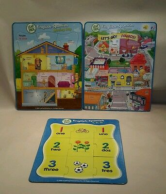 Leapfrog English-Spanish Cardboard Puzzles ABC'S Moving Day My Town Leap Frog
