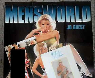 1980s/1990s Glamour Girls: JO GUEST Poster! +PENTHOUSE shoot+more (Joanne/Anne)
