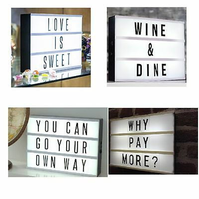 THE LEADING LIGHTS A4 Cinematic Illuminated Light Up Message  Letter Box