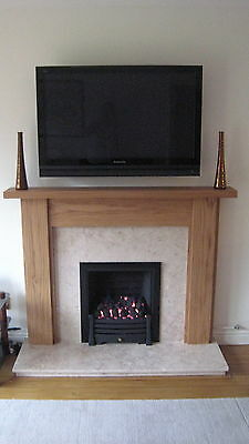 "Hand Made Solid Oak Fire Surround Mantelpiece ""Crofton"" Ossett Oak []''''''[]"