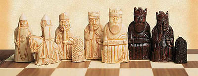 USCF Sales The Isle of Lewis Antiqued Chess Pieces