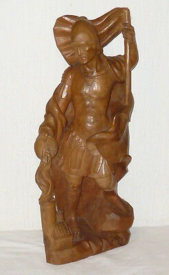 Carved Holy Statue Wooden Figure Saint Florian Patron Saint Fire Brigade Wood