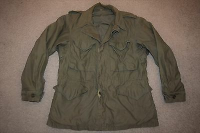 Vtg WW2 40s US ARMY M-1943 Field Jacket Texas 36th INF 141st INF Nat Guard 38