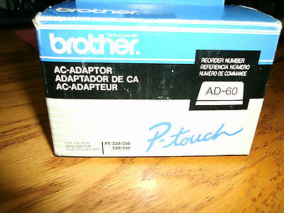 Brother P-Touch AC-Adaptor AD-60  New in Box