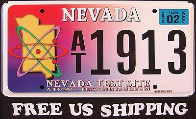 "NEVADA "" ATOMIC TEST SITE - NUCLEAR "" RARE License Plate FREE US SHIP"