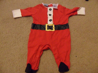0-3 Month Infant's Santa One-Piece Outfit