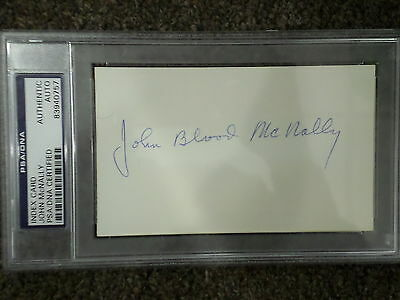 JOHN McNALLY Signed Index Card PSA/DNA Certified Authentic Auto Autograph