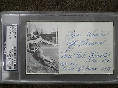 TUFFY LEEMANS Signed Index Card PSA/DNA Certified Authentic Auto Autograph
