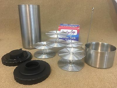 "Lot of 2 -   2"" & 7"" Developing Tank with 4 Reels 35mm Film Stainless Steel"