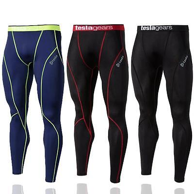 Tesla Mens Pants Compression Sports Base Layer Long Tights Running Gym Workout