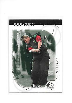 2001 SP Authentic Golf John Daly #1 Preview Card