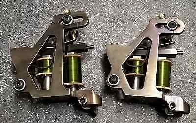 Pair Of Border Tattoo Machines Liner & Shader Iron Treated Frames Custom Coils