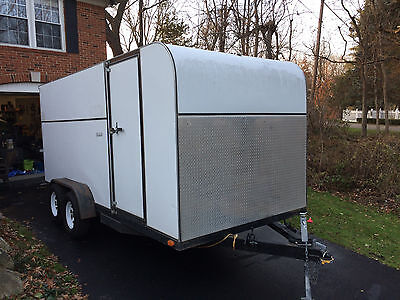 16 Foot Double Axle Enclosed Trailer with Ramp Door and Extras