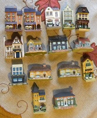 1990s Lot (15) BAILEYS IRISH CREAM House STORES Thatched Roof Cottage MINIATURES
