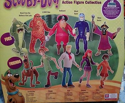 Scooby Doo Monster Set Action Figure 10 Pack FRED VELMA 10,000 VOLT Witch Doctor
