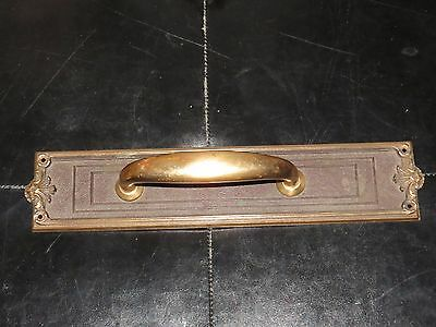 Vintage Large Sargent & Company Brass Door Handle Pull 1842 PH