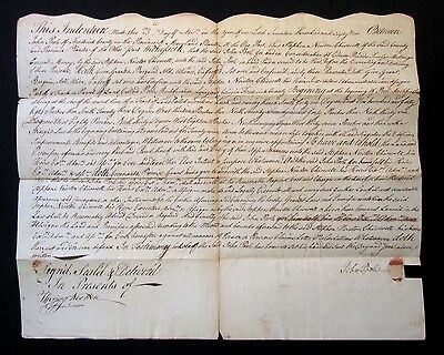 RARE 1769 POOLESVILLE MD John Poole Signed CHISWELL'S INHERITANCE Land Document