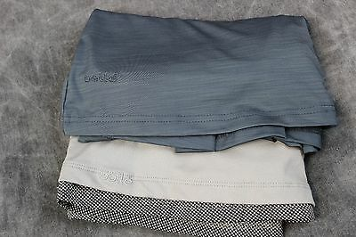 Lot of 2 Bolle tennis skirts gray/charcoal gray size S