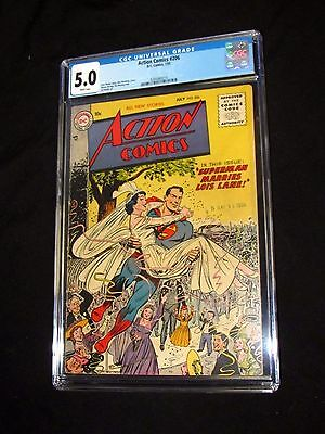 DC Action Comics #206 (1955) CGC 5.0 Superman Marries Lois White Pages V330