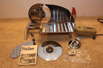 Rival Elec-o-Matic Electric Chrome Food Meat Slicer 1101E TESTED- CLEAN + SHARP