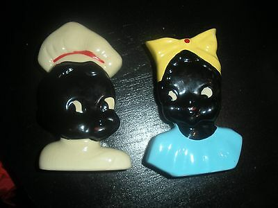 Rare Lot of 2  Mccoy Wall pockets - African American Boy and Girl Americana