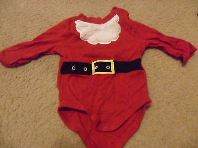 3-6 Month Infant's Santa One-Piece Outfit