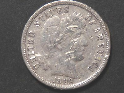 1899-S Barber Dime with XF Details