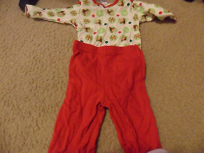 Infant's 3-6 Months Christmas One-Piece Outfit & Santa Pants Set Baby Gear Brand