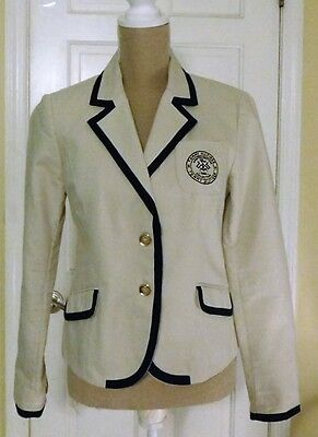 Vintage TOMMY HILFIGER Khaki Button Front Blazer Jacket 1985 Limited Edition M