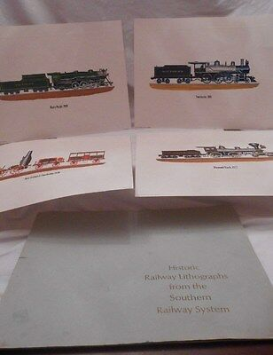 Vintage Set of 4 Railway Prints From The Southern Railway System