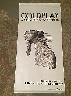 """COLDPLAY """"A Rush Of Blood To The Head"""" Rare promo Vinyl Wall Hanging"""