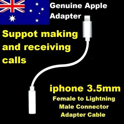 Genuine iphone 3.5mm Earphone Jack to Lightning Adapter Cable for 8 7 7 Plus X