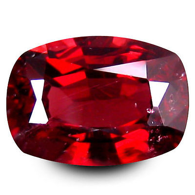 1.305Cts Resplendent Stunning Luster Red Natural Spinel Cushion Loose Gemstoens