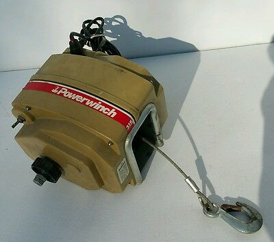 Powerwinch 12 volt electric boat trailer cable  winch model 315