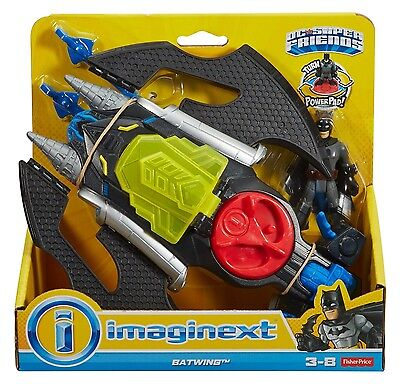 Imaginext Batwing with Batman Figure DC Super Friends - NEW - Fisher Price