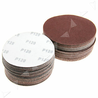 New 50 x 125mm/150mm Round No Hole Mixed Grit Sanding Sandpaper Discs