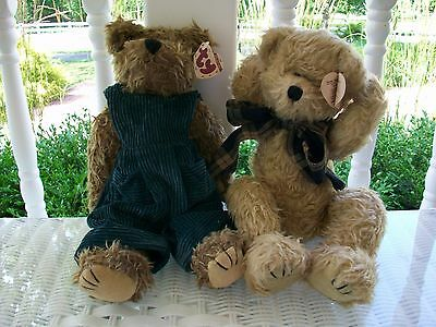 "TY Attic Treasures Collection . 2 Ty Bears. Bearington and Grover.14"" Bears.GUC"