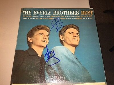 The Everly Brothers DON & PHIL Autographed Signed GREATEST HITS Album LP
