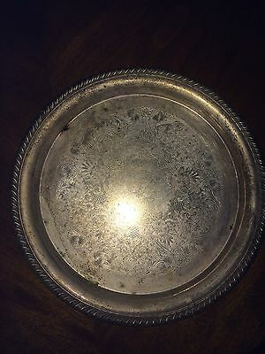 Vintage Silverplate Serving Plate Tray