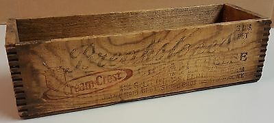 2 Vintage Breakstone's Cream Cheese Wood Box Crate Graphics Advertising New York