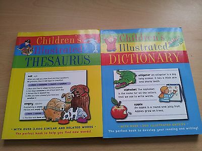 Childrens Illustrated Dictionary + Thesaurus..new