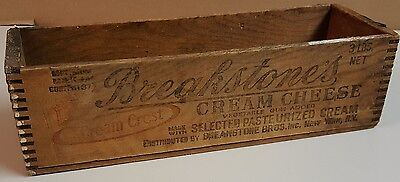 5 Vintage Breakstone's Cream Cheese Wood Box Crate Graphics Advertising New York