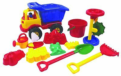 Dump Truck and Sandpit Toy Kit sand water play trays spade bucket backyard