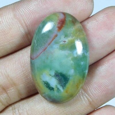 36.3Cts 100% NATURAL AWESOME BLOOD STONE OVAL 34X22 LOOSE CAB GEMSTONE UJ270