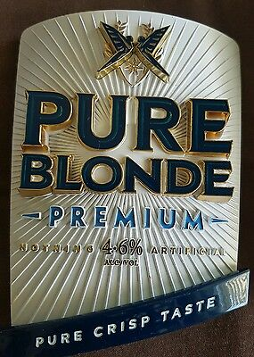 Pure Blonde Tap Badge And Handle Beer
