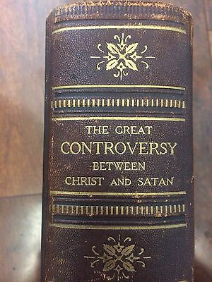 The Great Controversy Between Christ and Satan Ellen White Illustrated 1916 Old