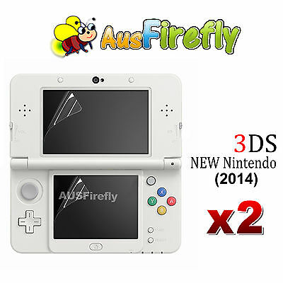 2x 2in1 Set Top & Bottom LCD Screen Protector Cover Film For New Nintendo 3DS