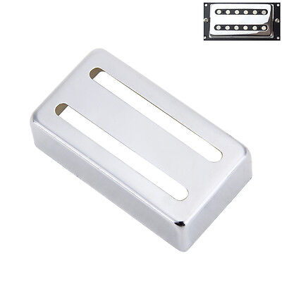 Chrome Metal Pickup Humbucker Cover Silver for 50mm 52mm Pickups Electric Guitar