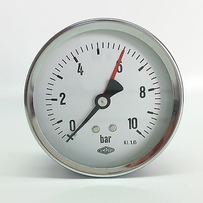 """Manometer Ø80mm  G1/4"""" hinten,  - alle Messbereiche - EMPEO - Made in Germany"""